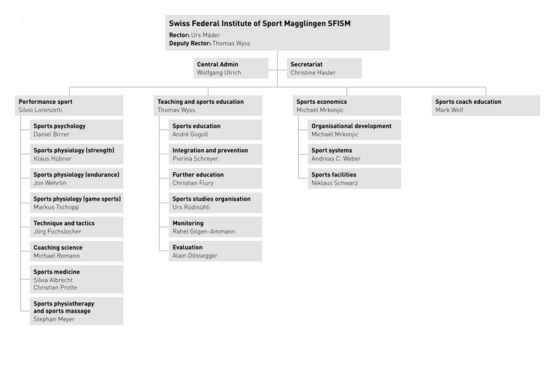 SFISM's organisation chart (in German)